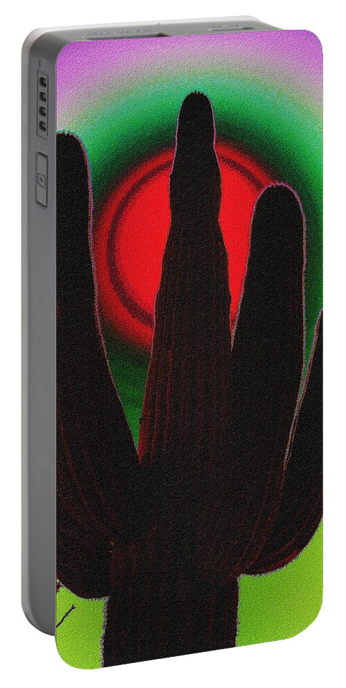 Mexico Portable Battery Charger featuring the photograph The Red Sun by Susanne Van Hulst