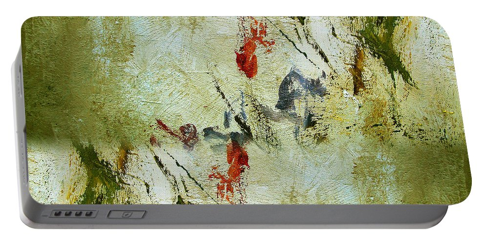 Abstract Portable Battery Charger featuring the painting The Reversal by Ruth Palmer