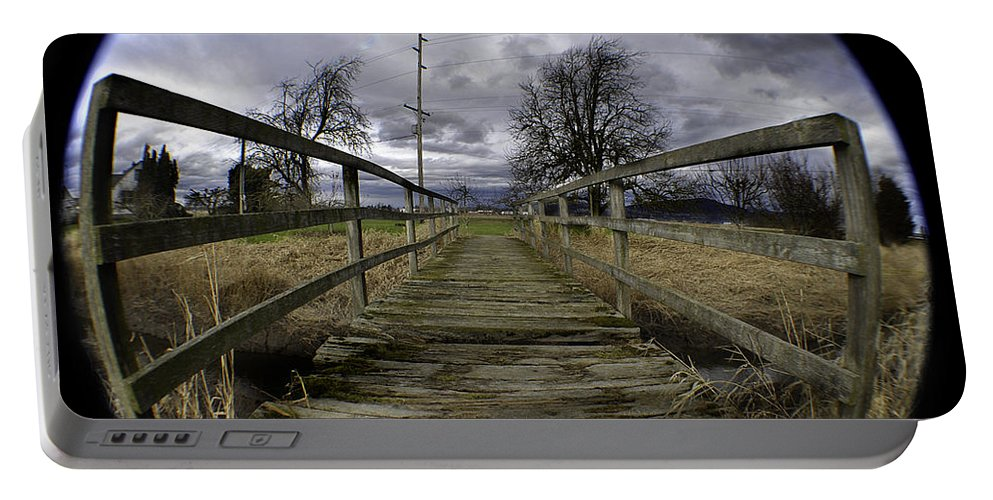 Art Portable Battery Charger featuring the photograph The Rickity Bridge by Clayton Bruster