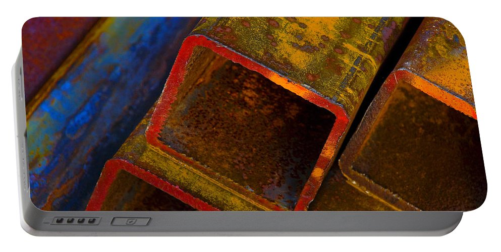 Abstract Portable Battery Charger featuring the photograph The River by Skip Hunt