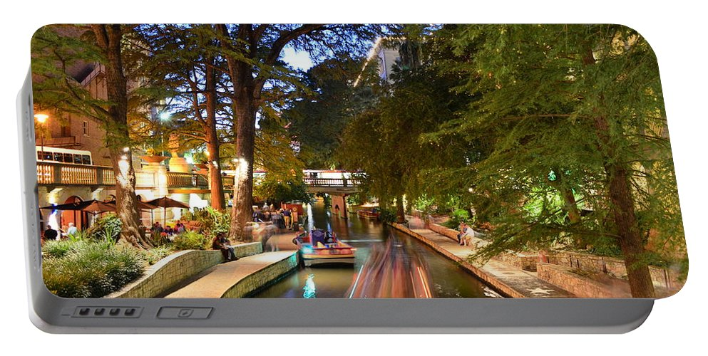 Riverwalk Portable Battery Charger featuring the photograph The Riverwalk by David Morefield