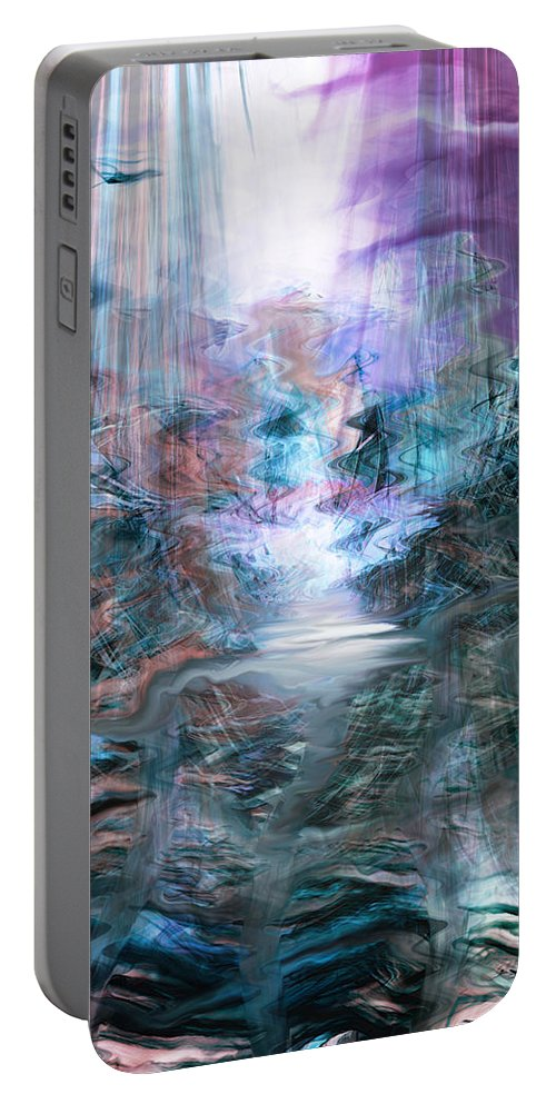 The Road Portable Battery Charger featuring the digital art The Road by Linda Sannuti