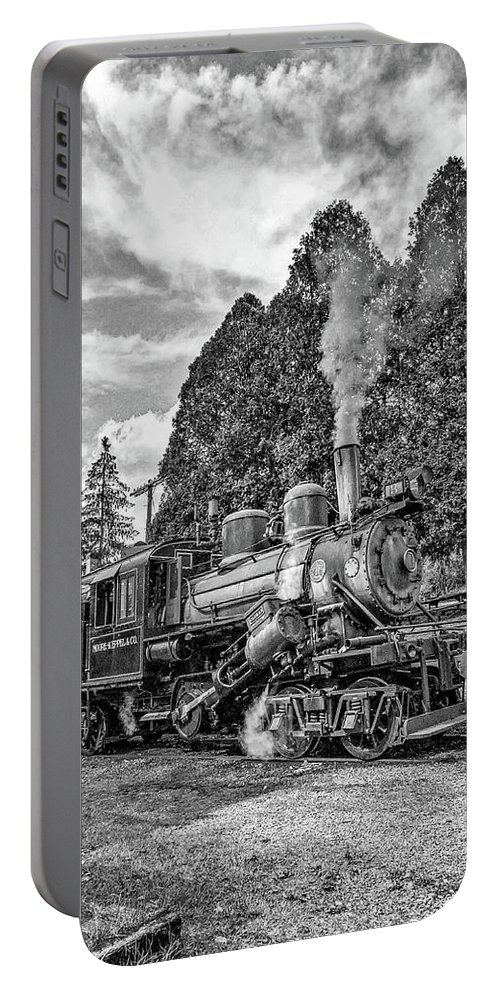 Pocahontas County Portable Battery Charger featuring the photograph The Rocket Monochrome by Steve Harrington