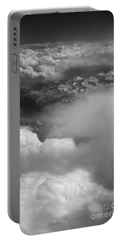 Aerial Photography Portable Battery Charger featuring the photograph The Rockies by Richard Rizzo