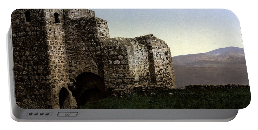Holyland Portable Battery Charger featuring the photograph The Ruins Jezreel Holy Land by Munir Alawi
