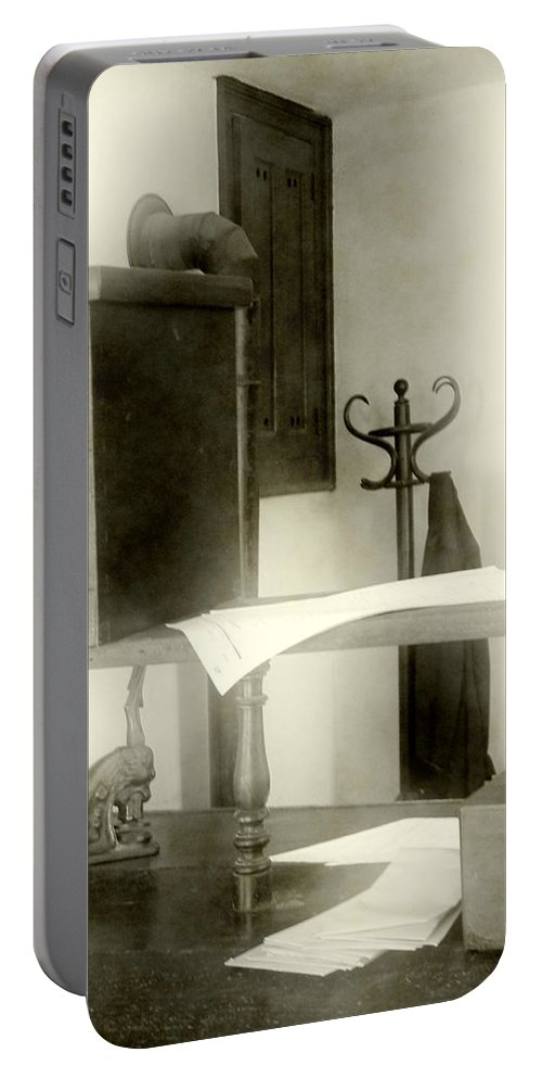 Antiques Portable Battery Charger featuring the photograph The Safe In The Wall by RC DeWinter