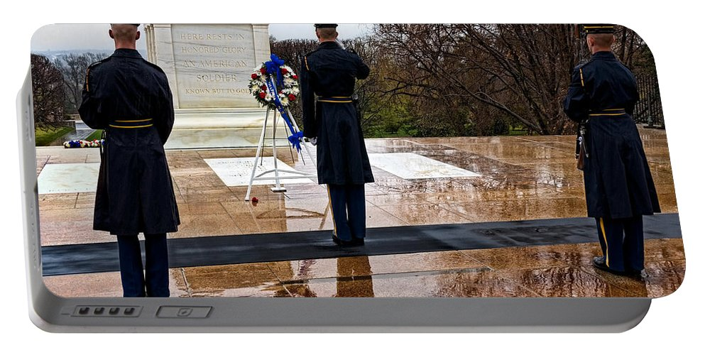 Salute Portable Battery Charger featuring the photograph The Salute by Christopher Holmes
