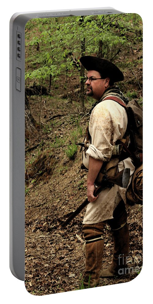 Reenactment Photographs Portable Battery Charger featuring the photograph The Scout3 by Kim Henderson