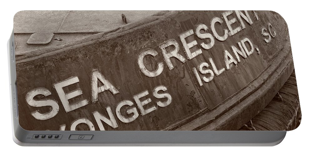 American Kiwi Photo Portable Battery Charger featuring the photograph The Sea Crescent by Mark Dodd