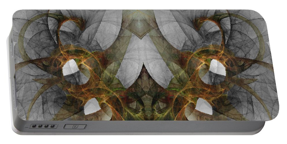 Abstract Portable Battery Charger featuring the digital art The Second Labor Of Herakles by NirvanaBlues