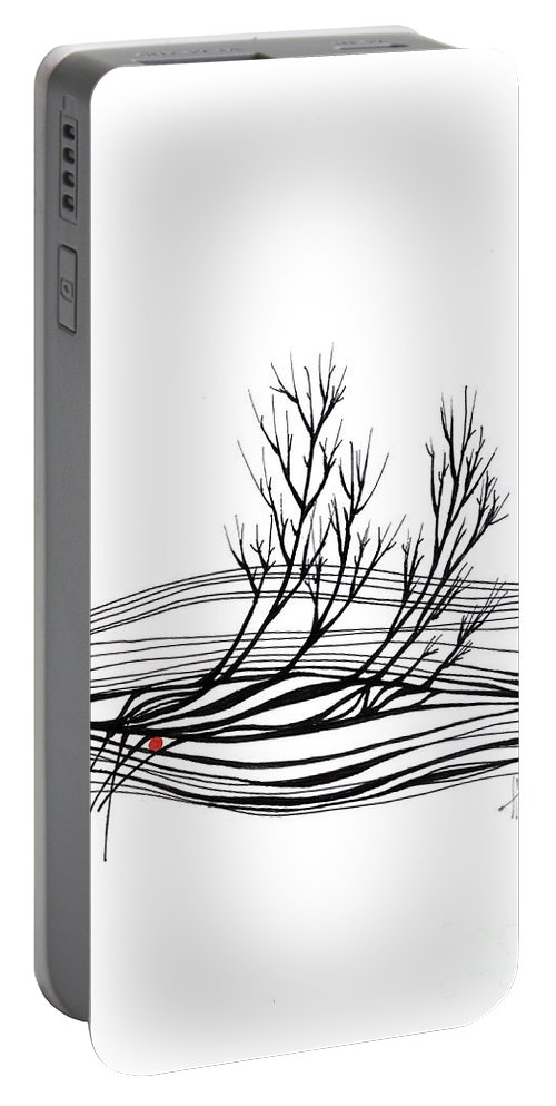 Trees Portable Battery Charger featuring the drawing The Seed by Aniko Hencz