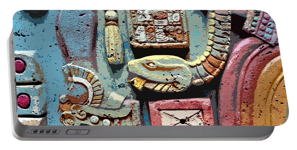 Snake Portable Battery Charger featuring the painting The Serpent's Message by David Lee Thompson