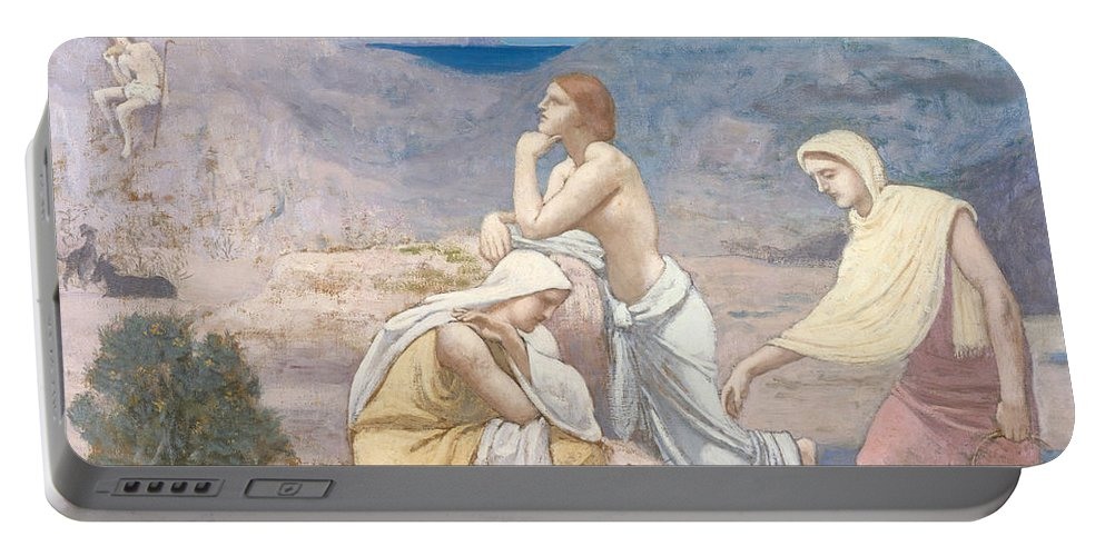 The Shepherds Song Portable Battery Charger featuring the painting The Shepherd's Song, 1891 by Pierre Puvis de Chavannes