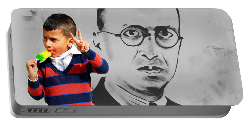 Victory Sign Portable Battery Charger featuring the photograph The Sign by Munir Alawi