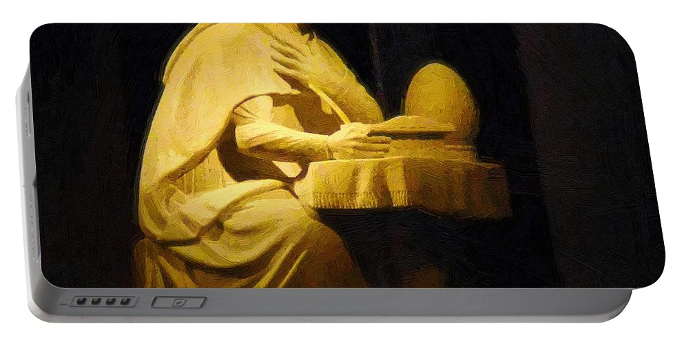 Augustine Portable Battery Charger featuring the painting The Sinner Who Became A Saint by RC DeWinter