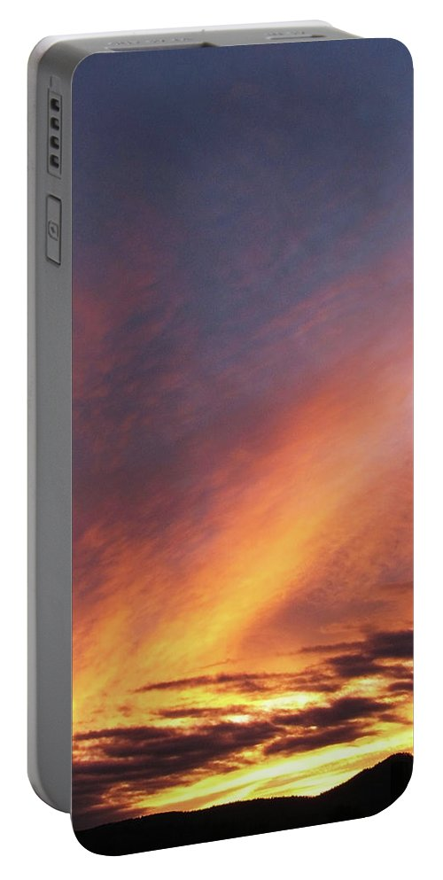 Yellow Portable Battery Charger featuring the photograph The Sky How It Moves Me by Teri Schuster