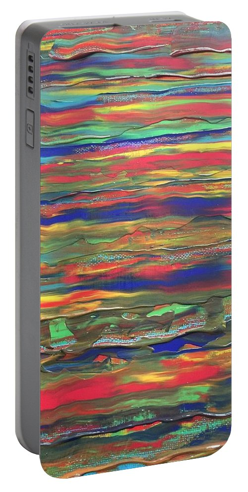 Portable Battery Charger featuring the painting The Sky by Lisa Porter
