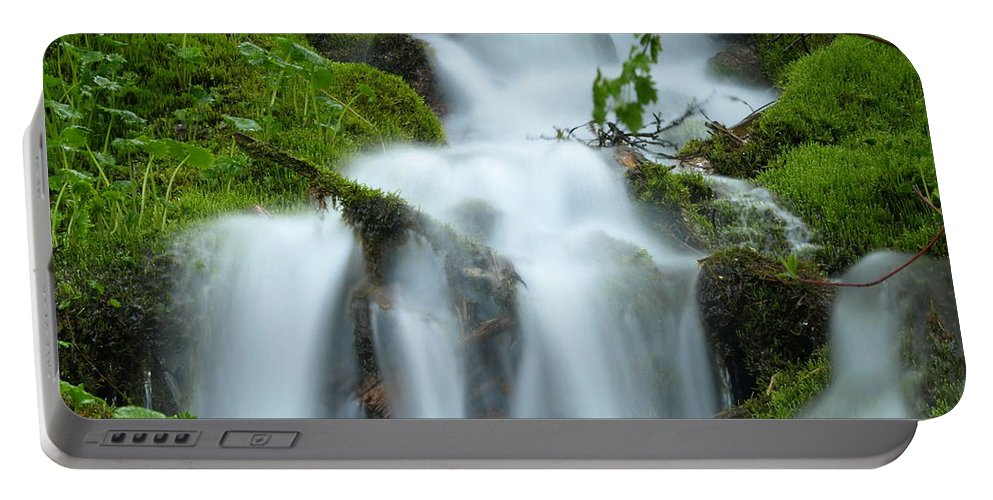 Water Portable Battery Charger featuring the photograph The Slithering Mist by DeeLon Merritt