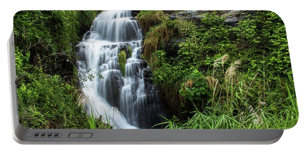Nature Portable Battery Charger featuring the photograph The Slow Motion by Peteris Vaivars