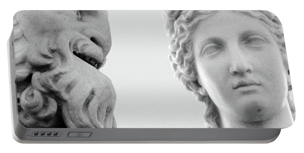 Rome Portable Battery Charger featuring the photograph The Smiling Devil by Munir Alawi