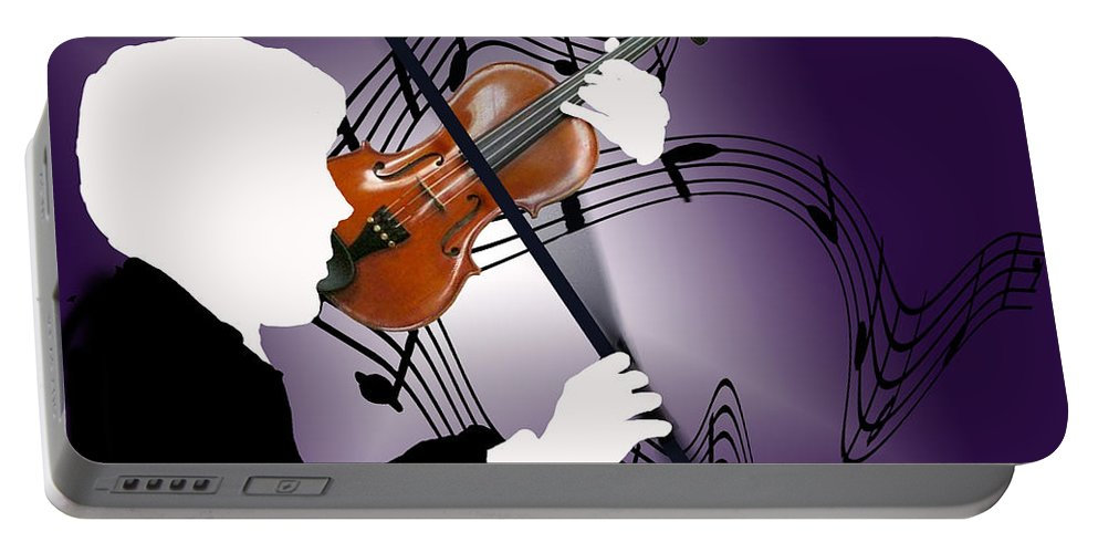 Violin Portable Battery Charger featuring the digital art The Soloist by Steve Karol