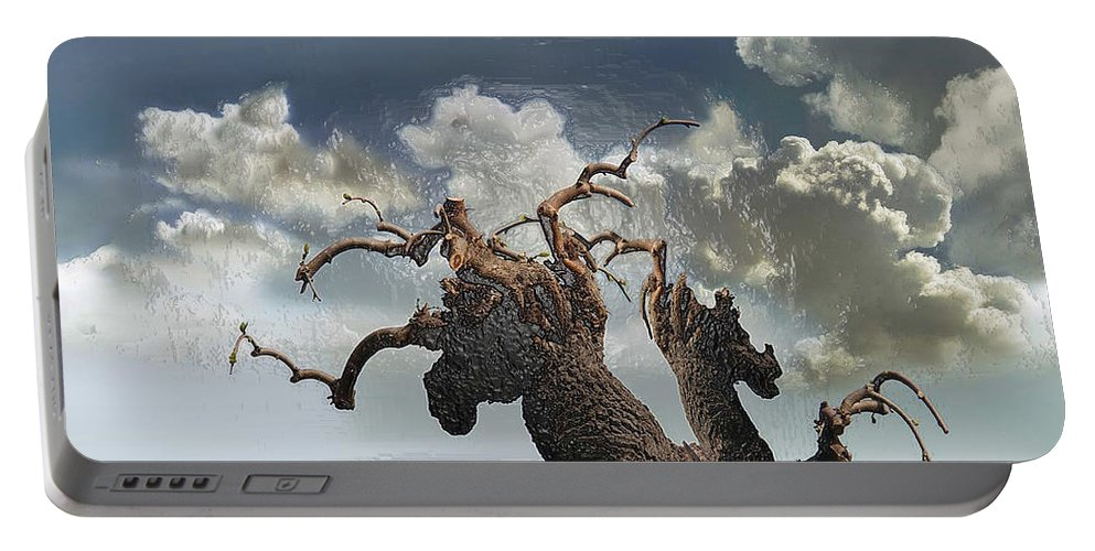 Landscape Portable Battery Charger featuring the photograph The Soul Of A Tree by Scott Mendell