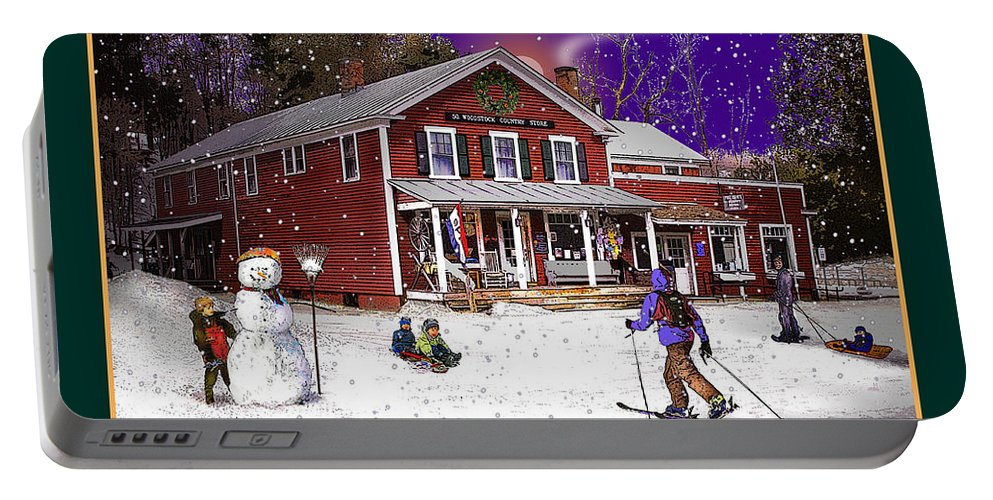 North Country Portable Battery Charger featuring the photograph The South Woodstock Country Store by Nancy Griswold