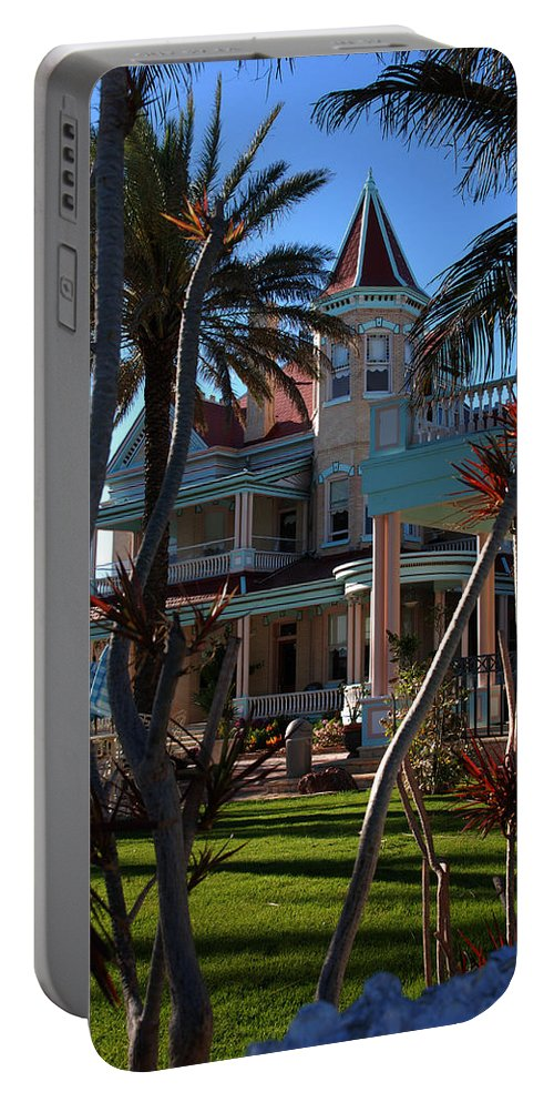 Southernmost Hotel Portable Battery Charger featuring the photograph The Southernmost Hotel by Susanne Van Hulst
