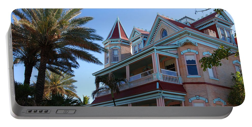 Photography Portable Battery Charger featuring the photograph The Southernmost House In Key West by Susanne Van Hulst