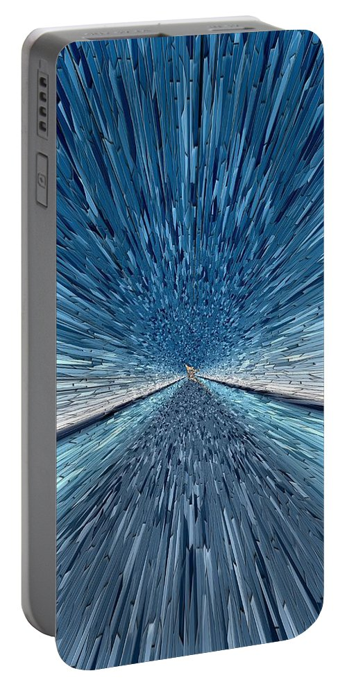 Abstract Portable Battery Charger featuring the digital art The Speed Of Light by Tim Allen