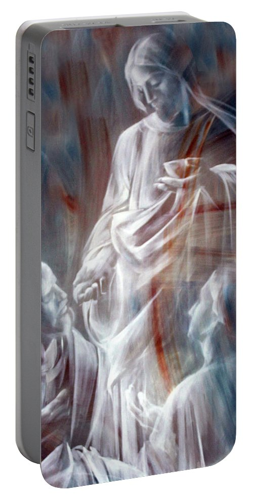 Jesus Portable Battery Charger featuring the photograph The Spirit by Munir Alawi