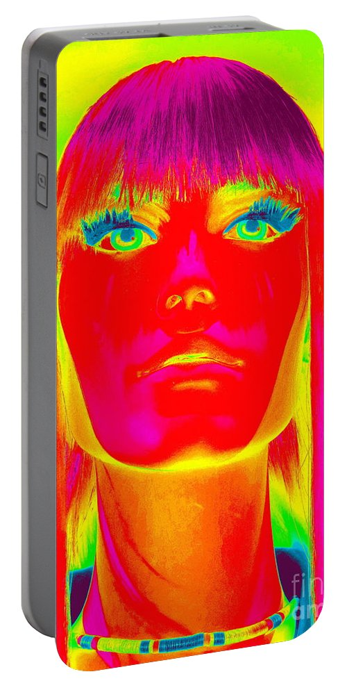 Digital Portable Battery Charger featuring the digital art The Spirit Of Scarlett by Ed Weidman