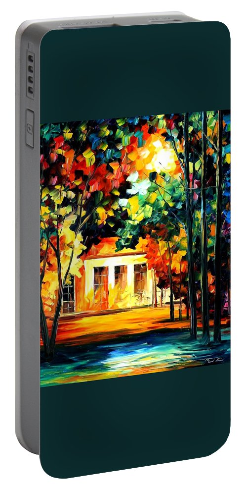 Afremov Portable Battery Charger featuring the painting The Spirit Of The Night by Leonid Afremov