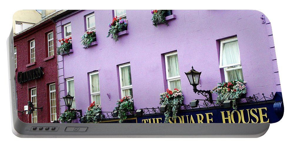 Irish Portable Battery Charger featuring the photograph The Square House Athlone Ireland by Teresa Mucha