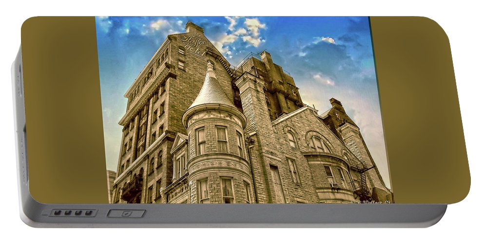 2d Portable Battery Charger featuring the photograph The Stafford Hotel by Brian Wallace