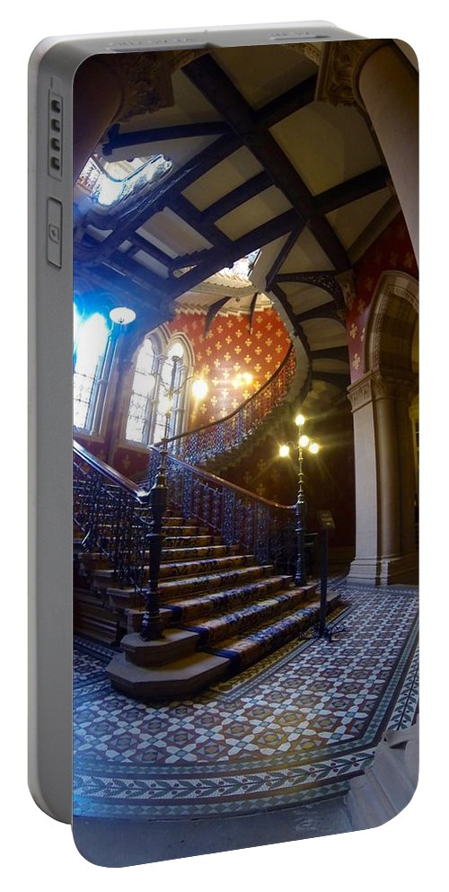 Saint Pancras Renaissance Hotel Portable Battery Charger featuring the photograph Stairway To Heaven by Steve Swindells
