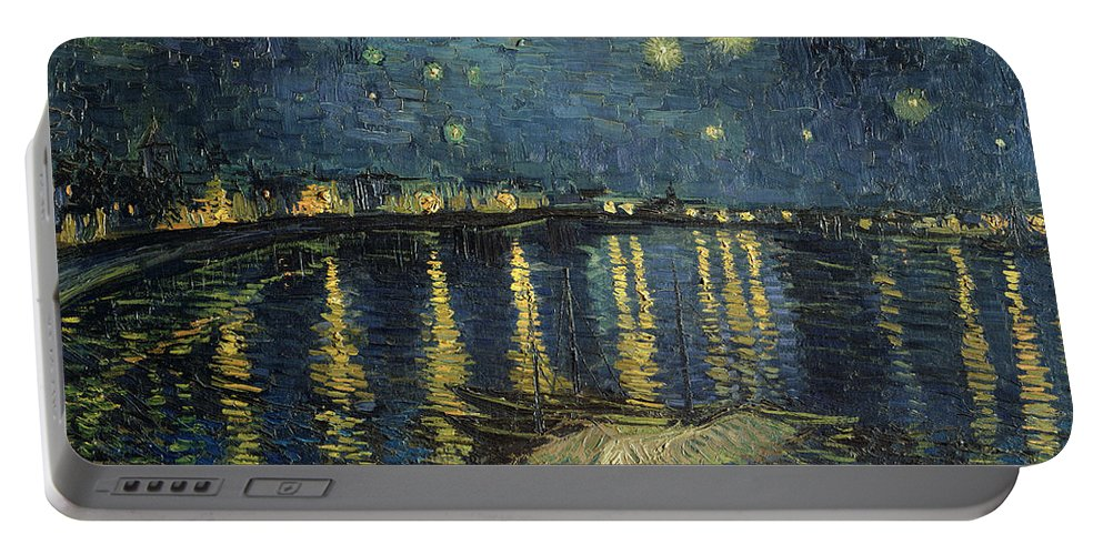 The Portable Battery Charger featuring the painting The Starry Night by Vincent Van Gogh