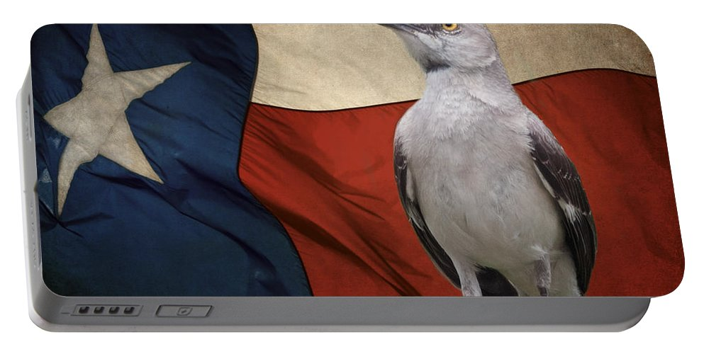 Animals Portable Battery Charger featuring the photograph The State Bird Of Texas by David and Carol Kelly