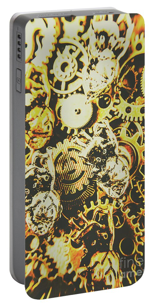 Design Portable Battery Charger featuring the photograph The Steampunk Heart Design by Jorgo Photography - Wall Art Gallery