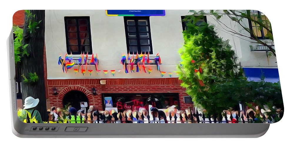 Digital Portable Battery Charger featuring the photograph The Stonewall Inn National Monument by Ed Weidman
