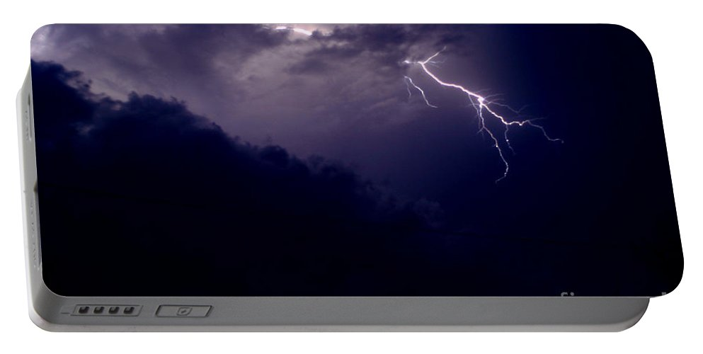 Sky Portable Battery Charger featuring the photograph The Storm 1.3 by Joseph A Langley