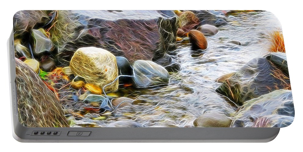Stream Portable Battery Charger featuring the photograph The Stream by Tim Coleman