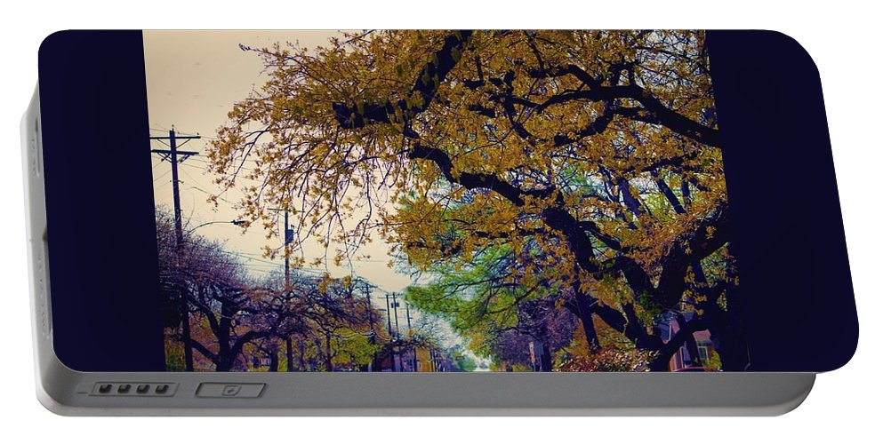 Landscape Portable Battery Charger featuring the photograph The Street Trees by Karl Thompson