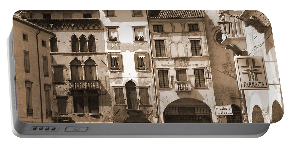 Landscape Portable Battery Charger featuring the photograph The Streets Of Vittorio Veneto by Donna Corless