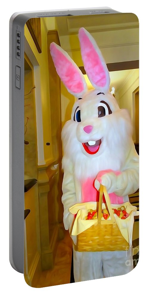 Digital Art Portable Battery Charger featuring the photograph The St.regis Easter Bunny by Ed Weidman