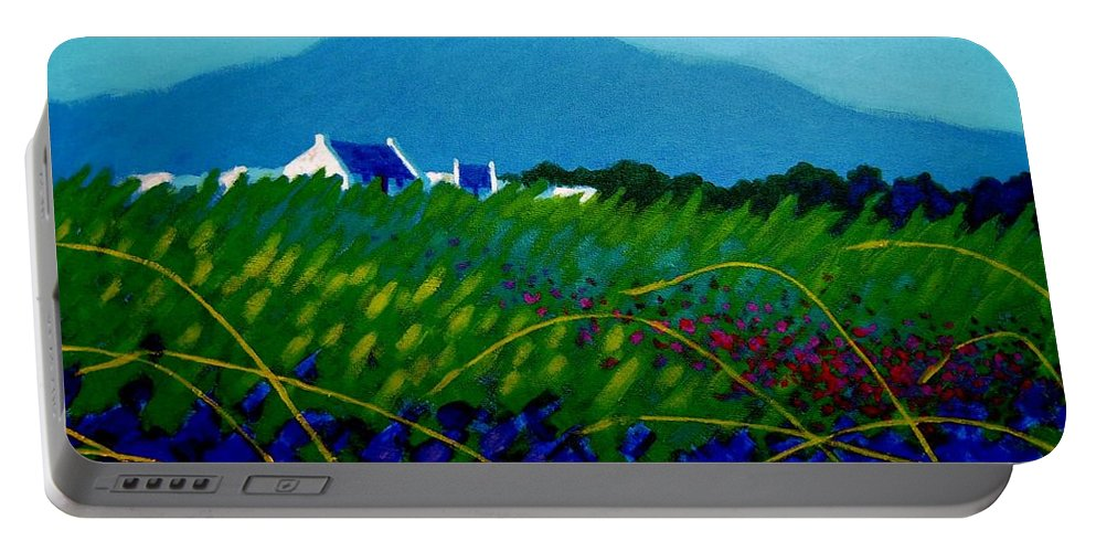 Irish Landscape Portable Battery Charger featuring the painting The Sugar Loaf County Wicklow Ireland by John Nolan