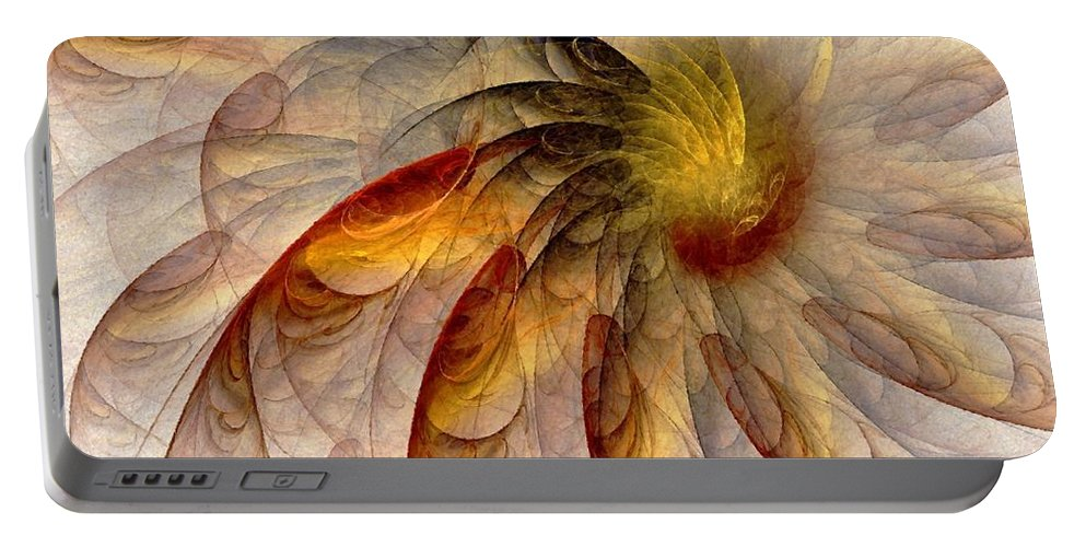Sun Portable Battery Charger featuring the digital art The Sun Do Move - Remembering Langston Hughes by NirvanaBlues
