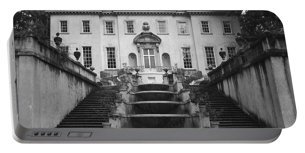 Historic Landmark Portable Battery Charger featuring the photograph The Swan House by Robert Meanor