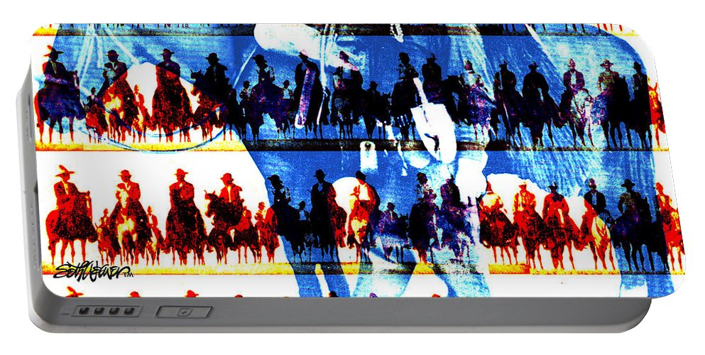 Cowboys Portable Battery Charger featuring the digital art The Tenderfoot by Seth Weaver