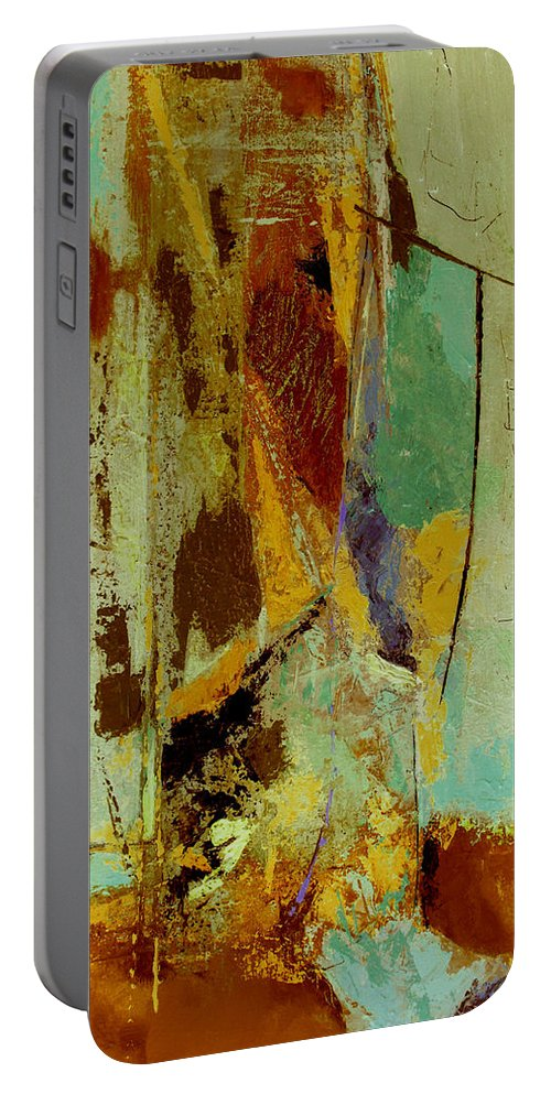 Abstract Portable Battery Charger featuring the painting The Testimony by Ruth Palmer